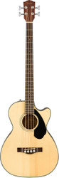 Fender® CB-60SCE Acoustic/Electric 4 String Bass - Natural Finish