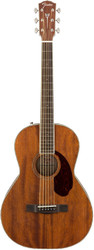 Fender® PM2 Paramount Series Mahogany Acoustic Parlor Guitar w/Hard Shell Case