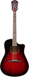 Fender® T-Bucket™ 300-CE Acoustic Electric Guitar Trans Cherry Burst