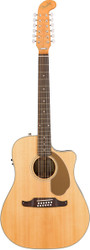 Fender® Villager 12 String Acoustic Electric Guitar Spruce/Maho Natural Finishe