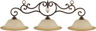 HJ Scott Oil Rubbed Bronze & Bronze Glazed Scavo Shade Billiard Pool Table Light