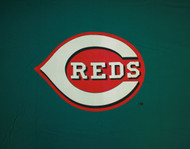 MLB Cincinnati Reds 8-Foot Wool/Nylon Billiards/Pool Table Cloth/Felt