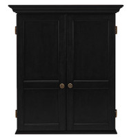 HJ Scott Windsor Dartboard Dart Board Cabinet - Black Finish