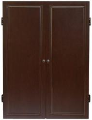 HJ Scott Strafford Dartboard Dart Board Cabinet - Espresso Finish