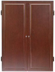 HJ Scott Strafford Dartboard Dart Board Cabinet - Old World Mahogany Finish
