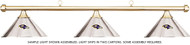 NFL Baltimore Ravens Chrome Shade & Brass Bar Billiard Pool Table Light
