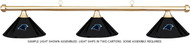 NFL Carolina Panthers Black Metal Shade & Brass Bar Billiard Pool Table Light