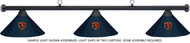 NFL Chicago Bears Blue Metal Shade & Black Bar Billiard Pool Table Light