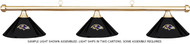 NFL Baltimore Ravens Black Metal Shade & Brass Bar Billiard Pool Table Light