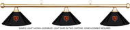 NFL Chicago Bears Black Metal Shade & Brass Bar Billiard Pool Table Light