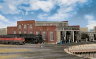 Walthers Cornerstone N Scale Building Kit Modern Roundhouse 3 Add-On Stalls