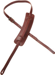 "Levy's M25-BRG 5/8"" Carving Leather Guitar/Bass Strap Classic 50s Pad-Burgundy"