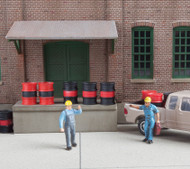 Walthers SceneMaster HO Scale Oil Drums Scenery Detail Kit (Package of 24)