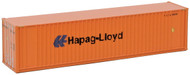 Walthers N Scale 40' Hi-Cube Intermodal Shipping Container Hapag-Lloyd