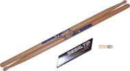 Regal Tip 011E E Series Hickory/Nylon JAZZ-E Wood Drum Set/Kit Drumstick- 3 Pair