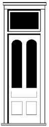 Durango Press HO Scale Model Railroad Detail Parts - Plastic Doors - w/ Transom