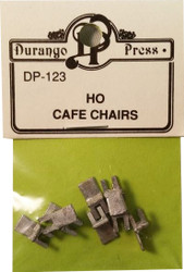 Durango Press HO Scale Model Railroad Detail Parts - Cafe Chairs