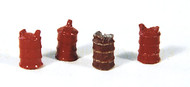 Durango Press HO Scale Model Railroad Detail Parts - 8 Gallon Gas Can (4-Pack)