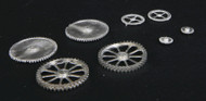 Durango Press HO Scale Model Railroad Detail Parts - Gears - Assorted (8-Pack)