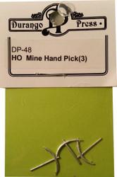Durango Press HO Scale Model Railroad Detail Parts - Mine Hand Pick (3-Pack)