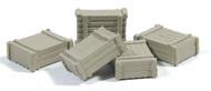 Durango Press HO Scale Model Railroad Detail Parts - Large Square Crate (5-Pack)