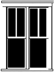 Durango Press HO Scale Model Railroad Parts - Plastic Double-Hung Windows (2)