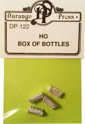 Durango Press HO Scale Model Railroad Detail Parts - Box of Bottles