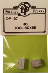 Durango Press HO Scale Model Railroad Detail Parts - Large Tool Boxes (2-Pack)