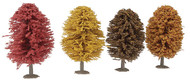 "Life-Like/Walthers HO Scale Autumn Trees Model Train Layout 4"" Tall (4-Pack)"