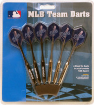"MLB Los Angeles Dodgers 12"" Paper Dart Board W/ 6 Team Logo Darts"