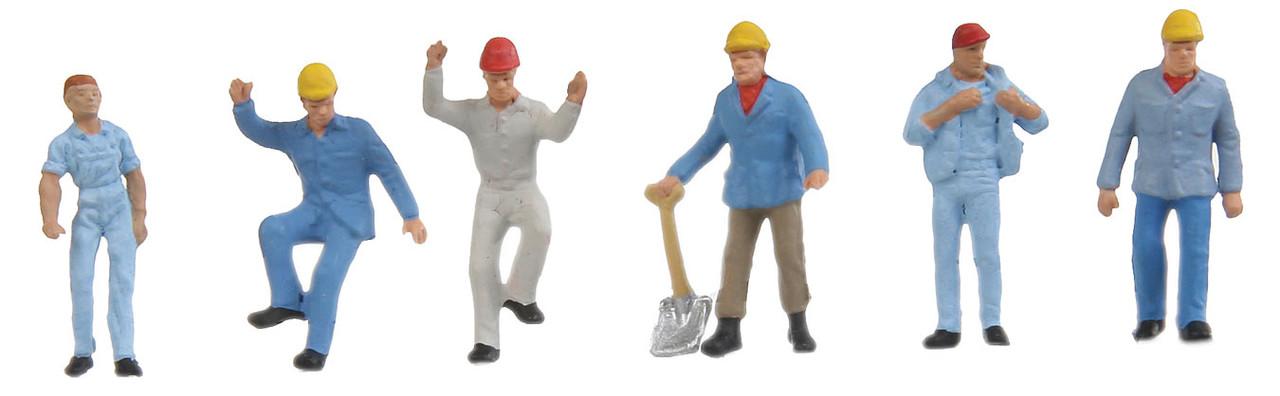 Preiser HO Scale Model Figure//People Set People Working Street Repair Crew 4-Pk