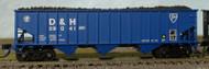 Bluford Shops N Scale 70-Ton 3-Bay Hopper/Srcrap Load Delaware Hudson/D&H #39041