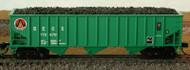 Bluford Shops N Scale 70-Ton 3-Bay Hopper/Coal Load South East Coal 3-Pack