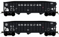 Bluford Shops N Scale 70-Ton 3-Bay Hopper/Coal Load Durham & Southern/DS 2-Pack