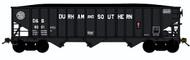 Bluford Shops N Scale 70-Ton 3-Bay Hopper/Coal Load Durham & Southern/DS #6038