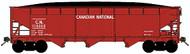 Bluford Shops N Scale 70-Ton 3-Bay Hopper/Load Canadian National/CN 3-Pack