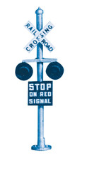 Oregon Rail Supply HO Scale Crossing Signal Flashers (Working Lights) 2-Pack