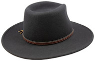 Stetson Bozeman Black Wool Crushable Cowboy Western Hat - Large