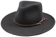 Stetson Bozeman Black Wool Crushable Cowboy Western Hat - Large
