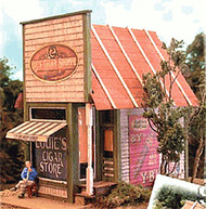 Bar Mills HO Scale Model Railroad Building/Structure Kit Papa Lous Cigar Shoppe