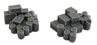 Bar Mills N Scale Model Railroad Detail Parts - Assorted Barrels & Crates