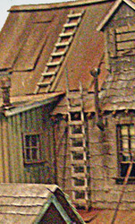 Bar Mills HO Scale Model Railroad Detail Parts - Wooden Ladders