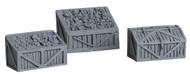 Bar Mills O Scale Model Railroad Detail Parts - Coal Bins & Tool Box