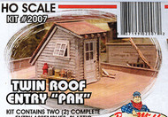 Bar Mills HO Scale Model Railroad Detail Parts - Roof Entry (2-Pack)