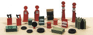 Railway Express Miniatures N Scale Detail Parts - Deluxe Gas Station Detail Set