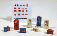 Railway Express Miniatures N Scale Detail Parts - Vintage Soda Machine Set