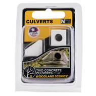 Woodland Scenics N Scale Culverts (2-Pack) Plaster Castings - Concrete