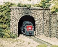 Woodland Scenics N Scale Single Track Tunnel Portals (2-Pk) Plaster Random Stone