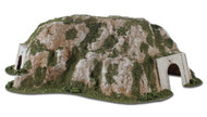 "Woodland Scenics N Scale Ready Landform Tunnel Curved 10 Wide x 16-1/2"" Long"