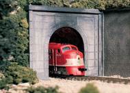 Woodland Scenics N Scale Single Track Tunnel Portals (2-Pack) Plaster Concrete